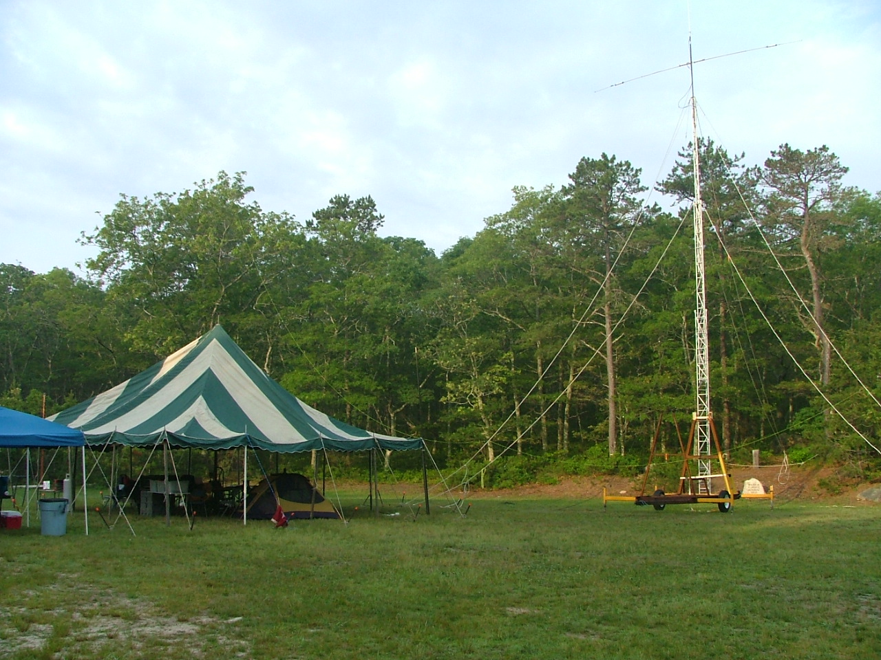 30'x30' tent is our operating center